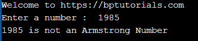 Armstrong number in c of n digits
