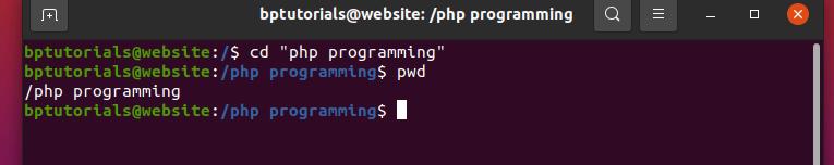 "Linux command tutorials cd "" dir  name"" Linux command"