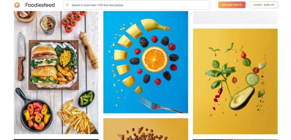 copyright free images for food website