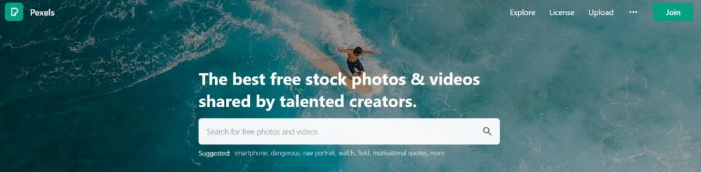 website for royalty and copyright free images, music and videos